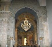Wśrodku katedry Catania, Sicily, południowy Włochy. Obrazy Royalty Free