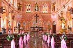 wśrodku kościół Obrazy Royalty Free