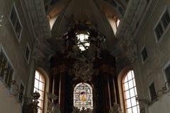 Wśrodku kościół wniebowzięcie obraz royalty free