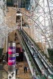 Wśrodku Langham miejsca zakupy centrum handlowego w Hong Kong zdjęcia royalty free
