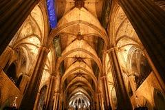 wśrodku losu angeles seu Barcelona katedra Zdjęcia Stock