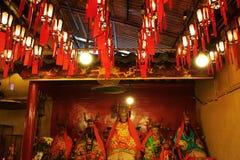 Wśrodku mężczyzna Mo świątyni w Hong Kong Zdjęcia Stock