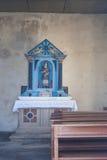 Wśrodku małego kościół Fotografia Royalty Free