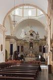 Wśrodku nasz damy niepokalany poczęcie, katedra w Campeche, Mexico obrazy royalty free