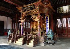 wśrodku pałac qing chongzheng dynastia fotografia stock