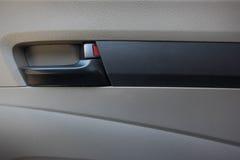 Wśrodku rękojeści samochodowego drzwi fotografia stock
