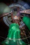 Wśrodku reaktoru zaniechana niedokończona władzy jednostka elektrownia jądrowa Obrazy Royalty Free
