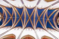 Wśrodku sławnego Markt Kirche w Wiesbaden, ceglany dom wewnątrz obrazy royalty free