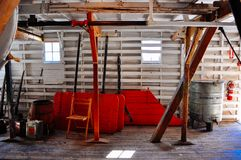Wśrodku S S Keno sternwheeler w Dawson mieście, Yukon fotografia royalty free