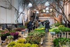 Wśrodku sklepu w Chelsea kwiatu rynku - Miasto Nowy Jork obrazy stock