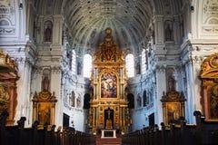 Wśrodku St Michael kościół w Monachium Zdjęcie Stock