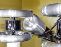 Wśrodku starego fabrycznego rękodzielniczego elektrycznego kabla przestarzały Zdjęcia Royalty Free