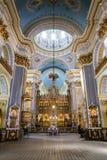 Wśrodku transfiguracja kościół w Lviv fotografia stock