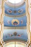 Wśrodku transfiguracja kościół w Lviv zdjęcie royalty free