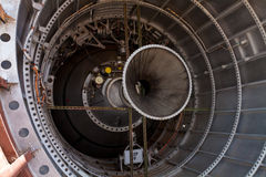 Wśrodku tytanu 11 ICBM rakiety zdjęcie royalty free