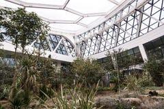 Wśrodku widoku szklarnia Seul botaniczny park, Seoul, korea południowa zdjęcia stock