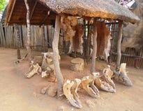 Wśrodku Wielkiego Kraal w Shakaland zulu wiosce, Południowa Afryka Zdjęcie Royalty Free