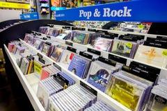 Wśrodku wnętrza Muzyczny cd sklep obraz royalty free