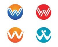 W在企业商标和标志模板上写字 免版税图库摄影