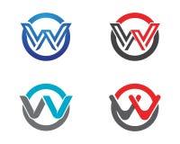 W在企业商标和标志模板上写字 库存图片