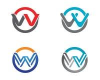 W在企业商标和标志模板上写字 库存照片
