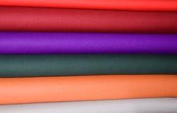 włóczkowi tkanina kolorowi lampasy Obraz Royalty Free