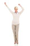 W średnim wieku kobieta taniec Zdjęcie Stock