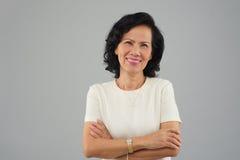 W średnim wieku Wietnamska kobieta Obraz Stock