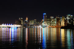 w środku nocy Vancouver Fotografia Royalty Free