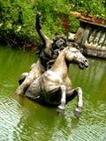 w środku posągów wody Obraz Royalty Free
