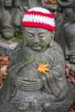 W świątyni i statui fotografia stock