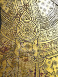 W świątyni tajlandzka sztuka. Zdjęcie Stock