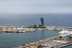 W Βαρκελώνη, επίσης γνωστή ως Vela ξενοδοχείων στοκ εικόνα με δικαίωμα ελεύθερης χρήσης
