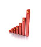 W 3d biznesowy Wykres Zdjęcie Stock