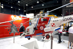 W-3RM (Anakonda). Model of the Polish rescue helicopter on the Balt Military Expo/Rescue 2012 in Gdansk, Poland Stock Image