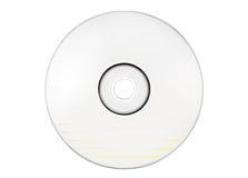 空白光盘标记的路径w白色 免版税库存照片