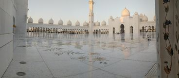 W Abu Sheikh Meczet Zayed Dhabi Zdjęcia Royalty Free