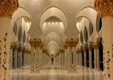 W Abu Sheikh Meczet Zayed Dhabi Zdjęcia Stock