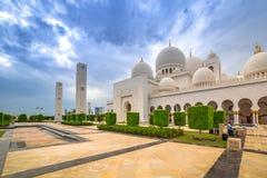 W Abu Uroczysty Sheikh Meczet Zayed Dhabi Fotografia Stock