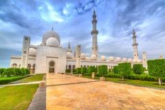 W Abu Uroczysty Sheikh Meczet Zayed Dhabi Zdjęcia Royalty Free