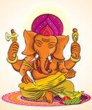 Władyka Ganesh ilustracja wektor
