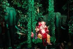 Władyka Ganesh w lesie Obrazy Royalty Free