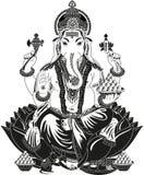 Władyka Ganesha royalty ilustracja