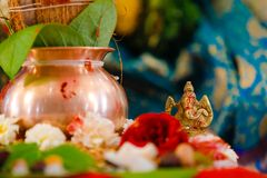 W?adyka Ganesha, w?adyki ganesha br?zu statua zdjęcie royalty free