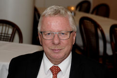 Władyki mayor Henrik Zimino mae anuancement on ot aport mayor poczta Obraz Royalty Free