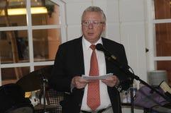 Władyki mayor Henrik Zimino mae anuancement on ot aport mayor poczta Zdjęcie Royalty Free