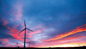 władza generatorowy wiatr zdjęcia stock