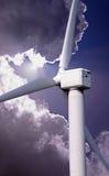 Władza wiatrowy rolny turbinowy generator Zdjęcia Royalty Free