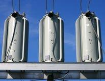 władze elektrycznej transformatorów Obrazy Royalty Free