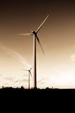 władze turbiny wiatr Fotografia Royalty Free